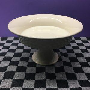 Taartschaal Roomkleur Keramiek Servies